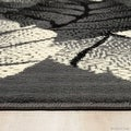 """Allstar Grey Area Rug. Contemporary. Abstract. Traditional. Geometric. Formal. Shapes. Squares (5' 2"""" x 7' 1"""") - Thumbnail 4"""