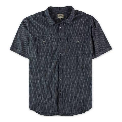 Ecko Unltd. Mens Boater Ss Woven Button Up Shirt, Blue, X-Small