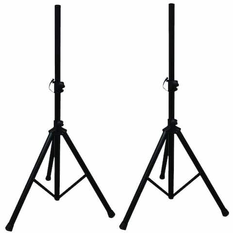 (Pack of 2) Technical Pro Professional Steel Tri-Pod Speaker Stand, Loudspeaker Mounting Stand w/ Carry Case, Stage/Studio Use