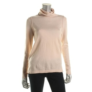 525 America Womens Cashmere Pintuck Turtleneck Sweater