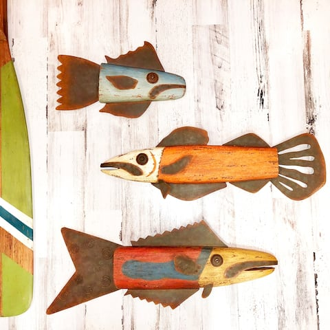 Wooden Wall Decor Snapper - 25 x 3 x 9