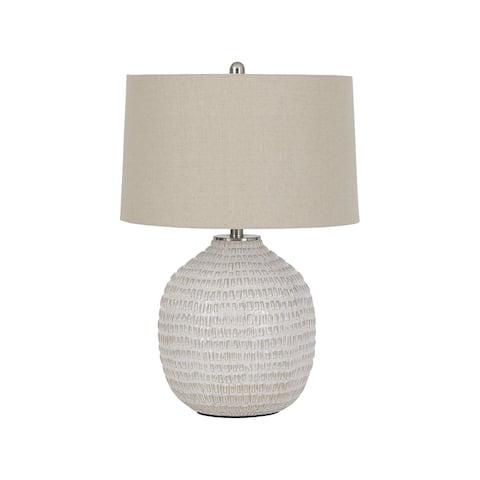 "Jamon Casual Beige Ceramic Table Lamp - 18""W x 18""D x 27""H"