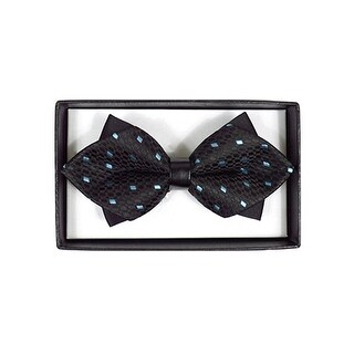 Men's Black Geometric Diamond Tip Bow Tie - DBB3030-13