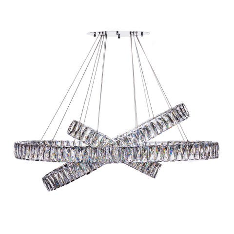 Finesse Decor Crystal Elegance LED Chandelier // 3 Ovals