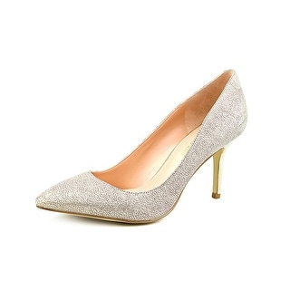 Enzo Angiolini Call Me Women Pointed Toe Leather Gold Heels