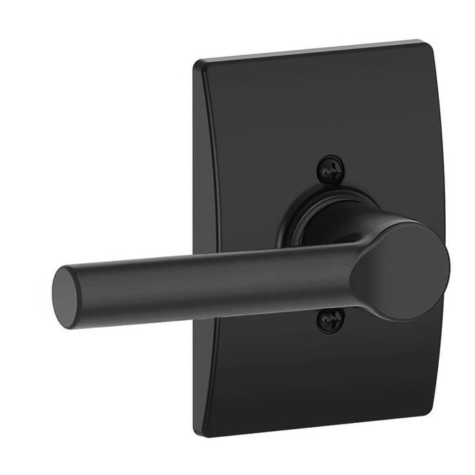 Schlage F170-BRW-CEN  Broadway Non-Turning One-Sided Dummy Door Lever with Decorative Century Trim (Matte Black)