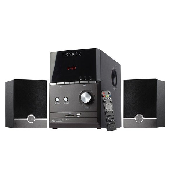 Sykik Bluetooth 2.1 Channel Speaker with FM, SD, USB and Remote. Opens flyout.