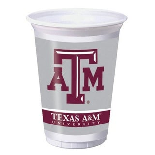 Pack of 96 NCAA Texas A&M Aggies Plastic Drinking Tailgate Party Cups - 20 oz.
