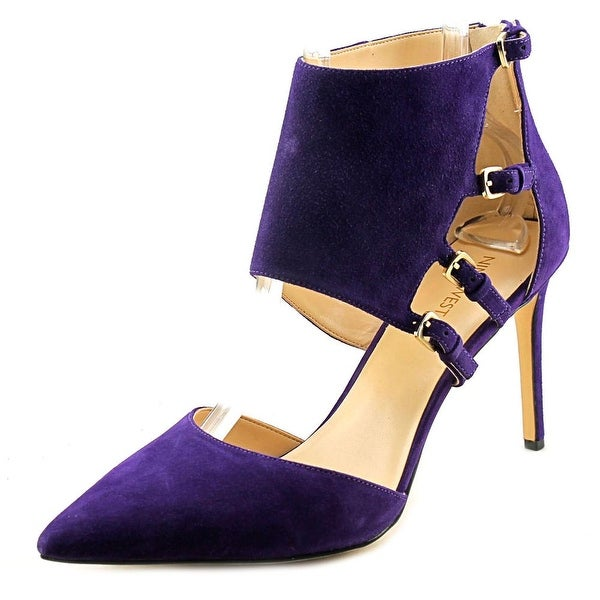 Nine West Trust Me Women Dark Purple Pumps