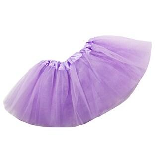 Baby Girls Lavender Satin Elastic Waist Ballet Tutu Skirt 0-12M