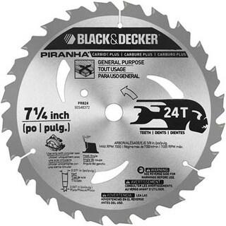 "Piranha PR824 24-Teeth Circular Saw Blade 7-1/4"", Carbide"