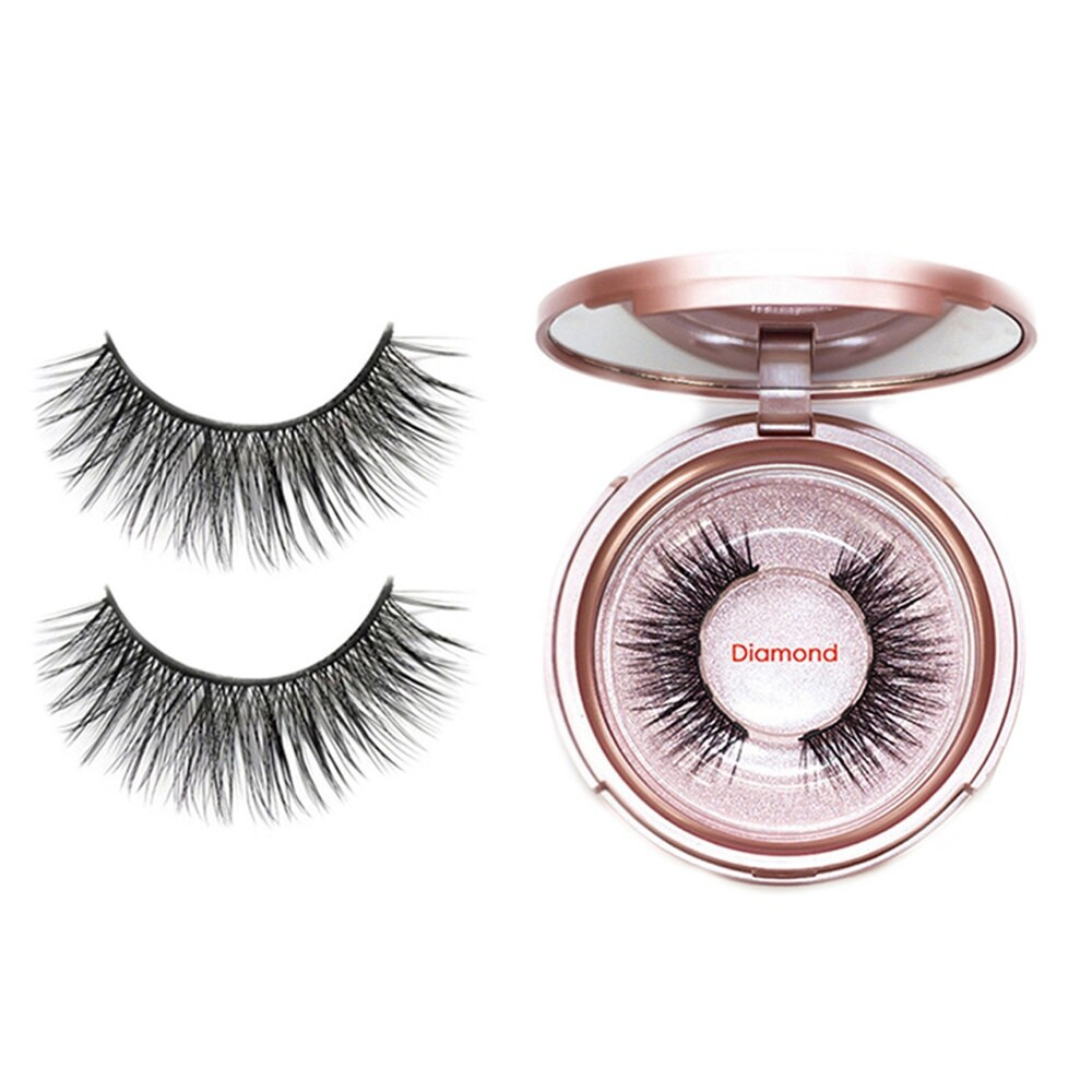 Magnetic Eyeliner With 3D Magnetic Eyelashes & Tweezers Waterproof Kit (Eye Makeup Primer - 1 Piece)