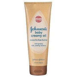 JOHNSON'S Baby Creamy Oil, Cocoa & Shea Butter 8 oz