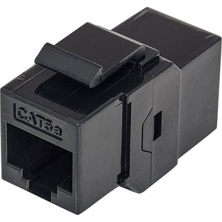Intellinet 504775 Intellinet Cat5e UTP Inline Coupler, Keystone Type, Black - 8P8C Female to 8P8C Female