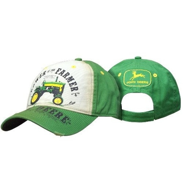 cba25a1432e Shop John Deere Western Hat Mens Power Farmer Vintage OS JD Green ...
