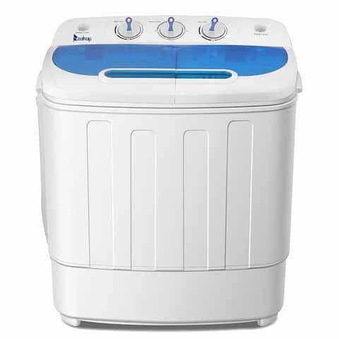 10.4Lbs/13Lbs/16Lbs Semi-automatic Twin Tube Portable Clothes Washer Machine