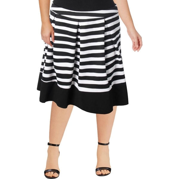 653a45ea9f Shop Modamix Womens A-Line Skirt Pleated Knee Length - Free Shipping On  Orders Over $45 - Overstock - 22890848