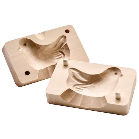 Art & Artifact Bird Shaped Butter Mold - Reshape Butter Sticks - Hand Carved in Poland - Beige