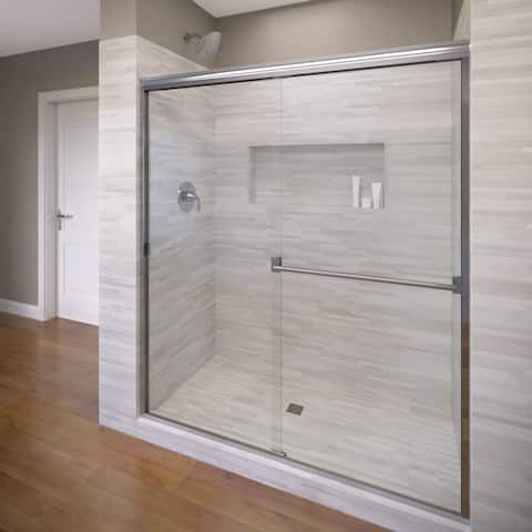 "Basco 3500-40CL Classic 70"" High x 40"" Wide Bypass Framed Shower Door with Clear Glass - Silver"