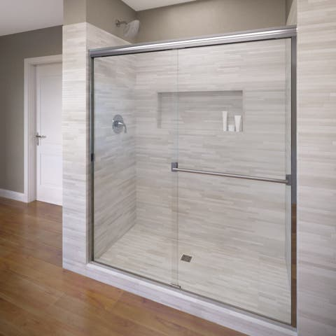 "Basco 3500-40CL Classic 70"" High x 40"" Wide Bypass Framed Shower Door with Clear Glass"