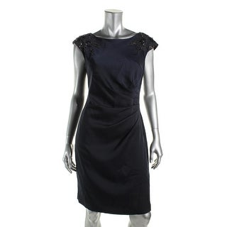 Adrianna Papell Womens Sleeveless Knee-Length Wear to Work Dress