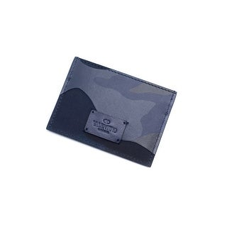 Valentino Unisex Navy Camouflage Card Holder Wallet