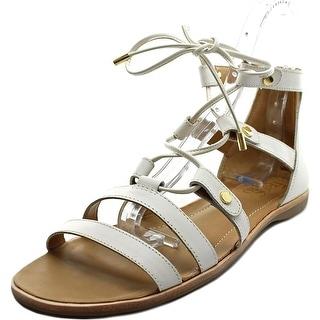 Franco Sarto Baxter Women Open Toe Leather White Gladiator Sandal