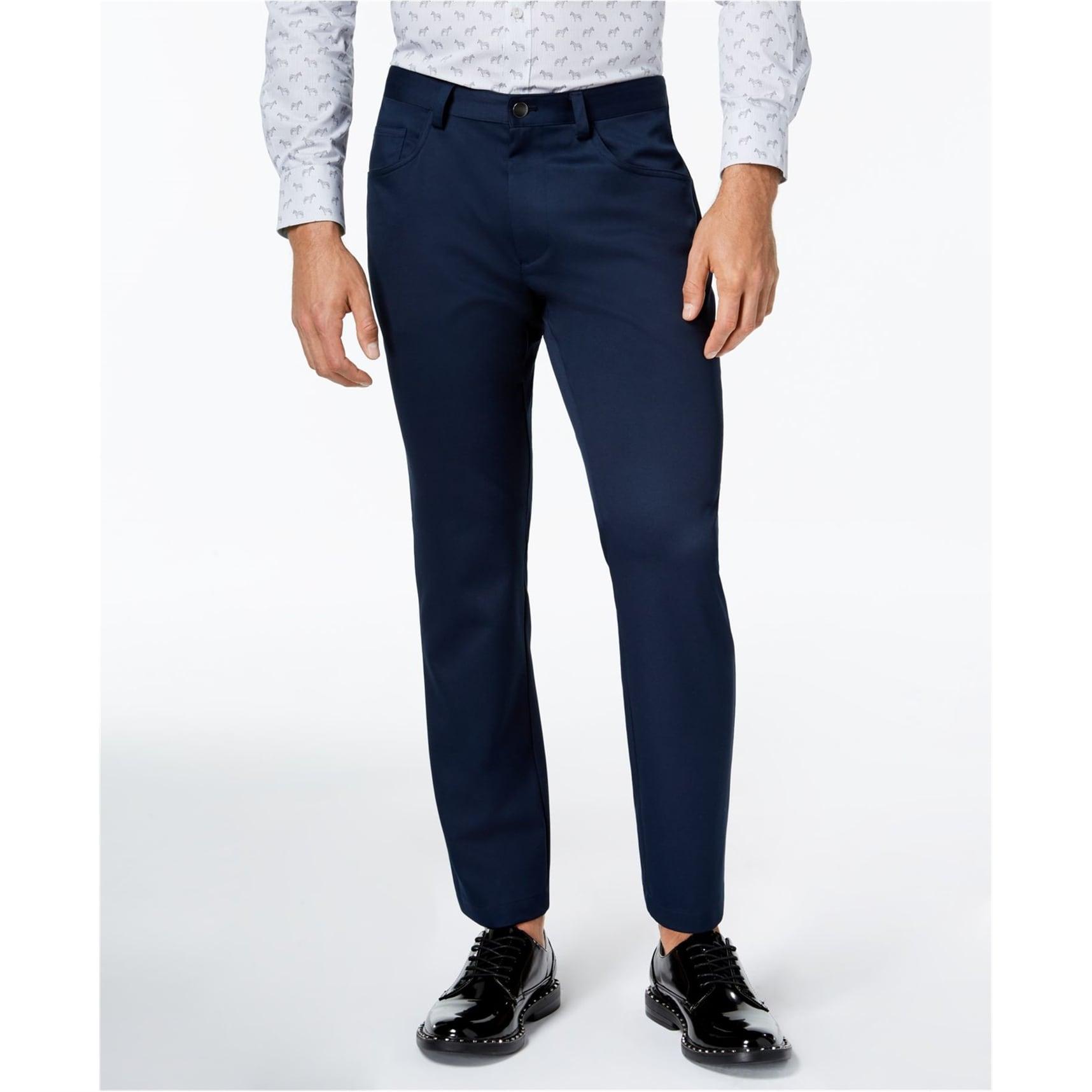 I-N-C Mens Ryder Casual Trousers Grey 30W x 32L