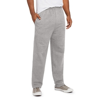 Hanes ComfortSoft EcoSmart Men's Fleece Sweatpants - Grey Heather - Size - L