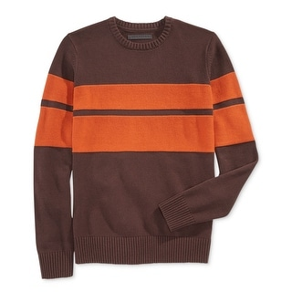 Sean John NEW Brown Orange Mens Size 3XL Pullover Crewneck Sweater