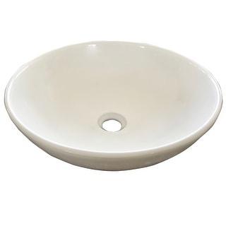 "Mirabelle MIRSR100  Sarasota 15-1/2"" Round Vitreous China Vessel Bathroom Sink - White"
