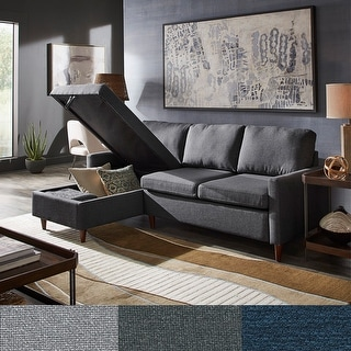 Parker L-Shaped Sofa with Reversible Storage Chaise by iNSPIRE Q Modern