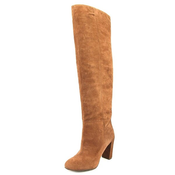 1edad283ebf Shop Nine West Snowfall Women Round Toe Suede Brown Over the Knee ...
