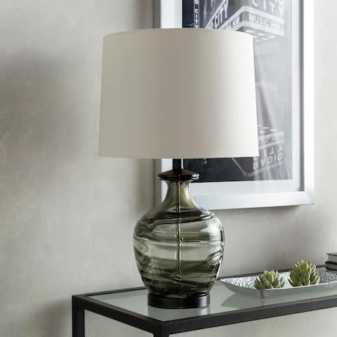 "Valente 25 in. Charcoal Modern Table Lamp - 25"" H"