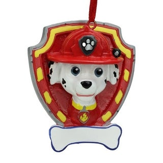 2.75 Paw Patrol Marshall Character Christmas Ornament for Personalization