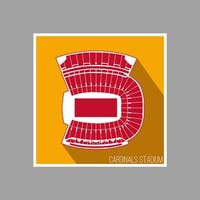 Louisville Cardinals - Cardinals Stadium (36x36 Poster) College Football Seating Map Matte Poster 36x36