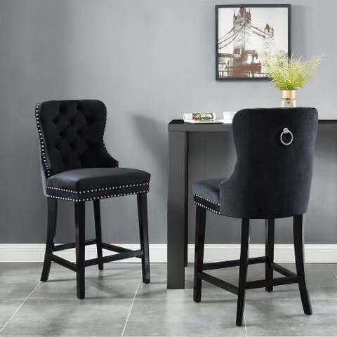 Copper Grove Barcelona 26-inch Black Counter Stools (Set of 2)