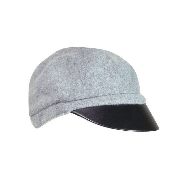 August Accessories Women's Faux Leather Mixology Modboy Hat - os