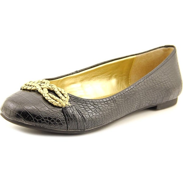 American Living Donica Women Round Toe Synthetic Black Flats