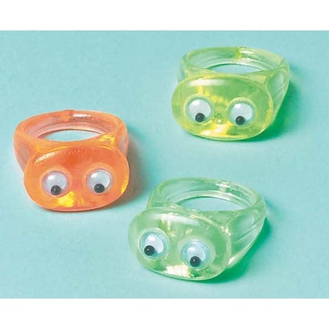 Wiggle Eye Rings - Party Favors 12/Pkg