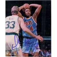 Signed Coleman Derrick New Jersey Nets 8x10 Photo autographed