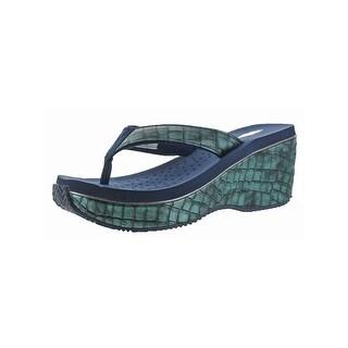 Volatile Womens Jojo Wedge Sandals Open Toe Casual