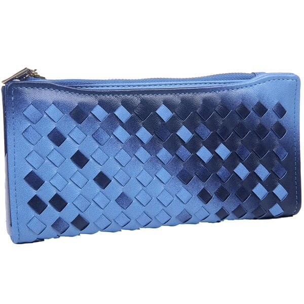 Mad Style Blue Ombre Weave Wallet
