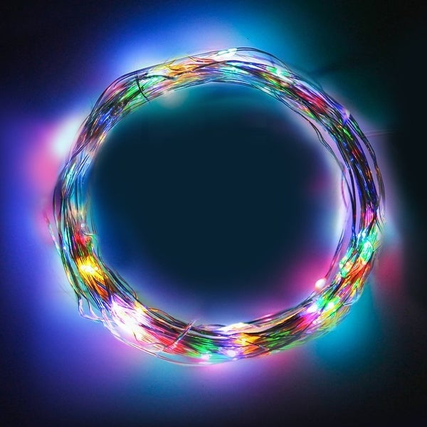20ft Christmas LED String Lights,RGB Waterproof Multicolor Copper Wire Starry Lights Power Adapter for Festival,Holiday