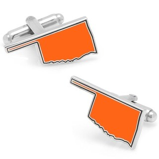 Orange Oklahoma Cufflinks