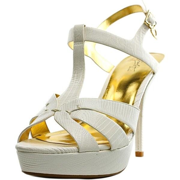 Thalia Sodi Raquell White Snake Sandals