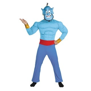 Disguise Disney Aladdin Genie Muscle Adult Costume - Blue - 42-46