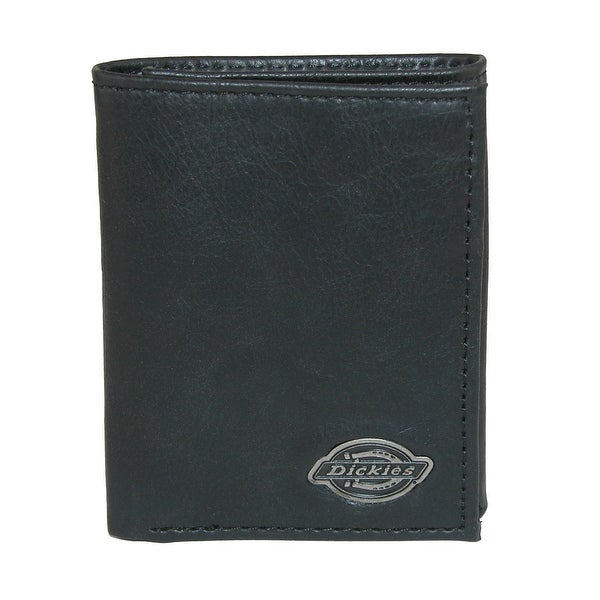 Dickies Men's Leather Trifold Wallet with Logo Ornament - One size