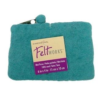 Dimensions Feltworks 100% Wool Purse Mini Aqua