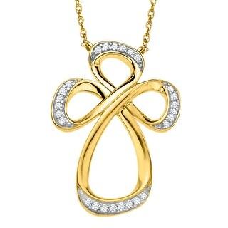 Jessica Simpson Diamond Cross in 10K Yellow Gold